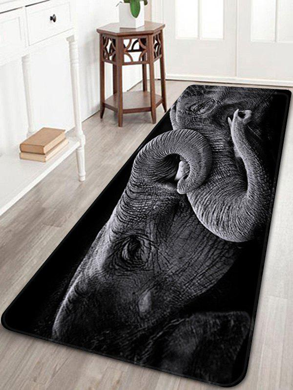 Two Old Elephants Playing Print Nonslip Floor Rug цена 2017