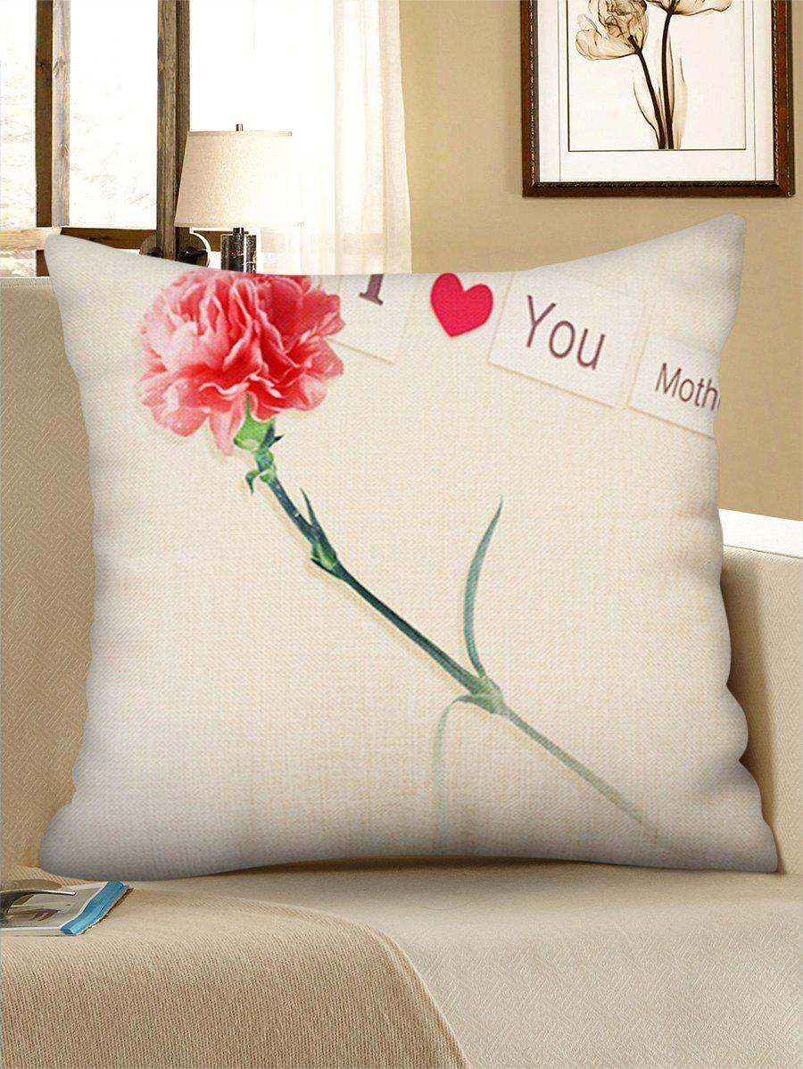 Mother's Day Gift Carnation Flower Printed Pillow Case - multicolor G W18 INCH * L18 INCH