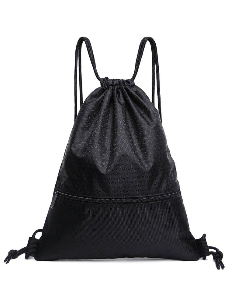 Casual Solid String Backpack for Holiday - BLACK