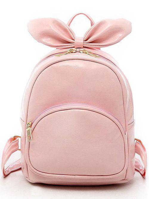 Bowknot Rabbit Ear Pattern Lovely Mini Backpack - HOT PINK