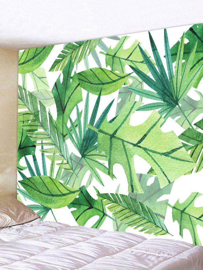 Tropical Leaves Print Tapestry Wall Art tropical leaves wall sticker