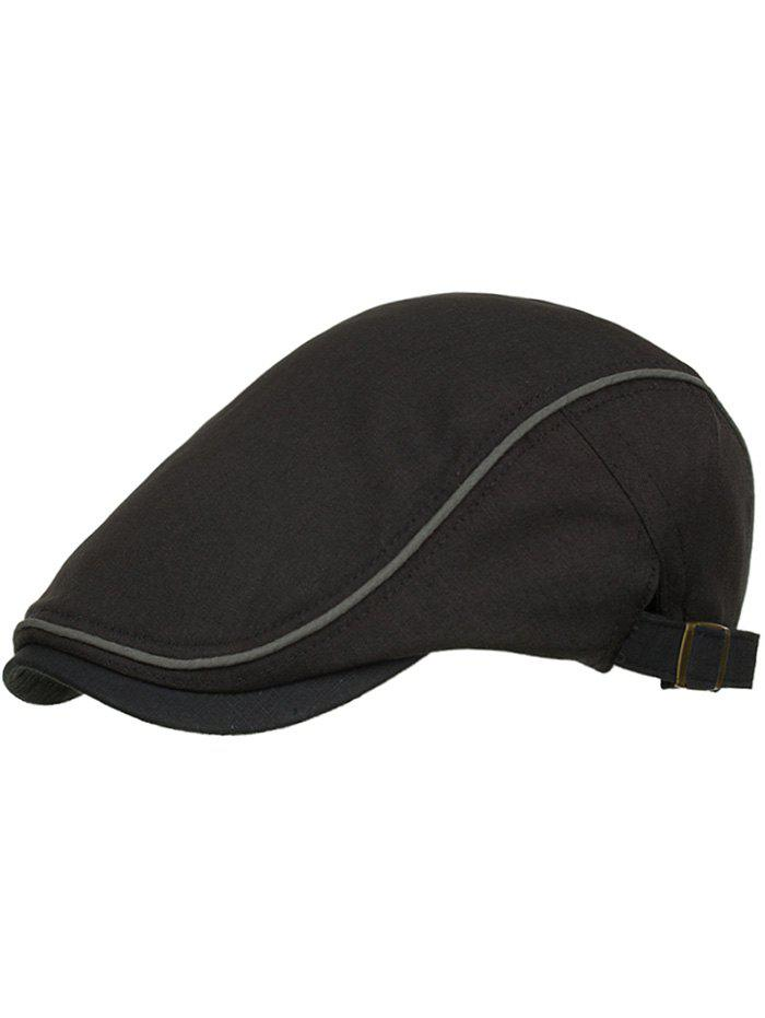 Outdoor Solid Color Adjustable Jeff Hat - BLACK