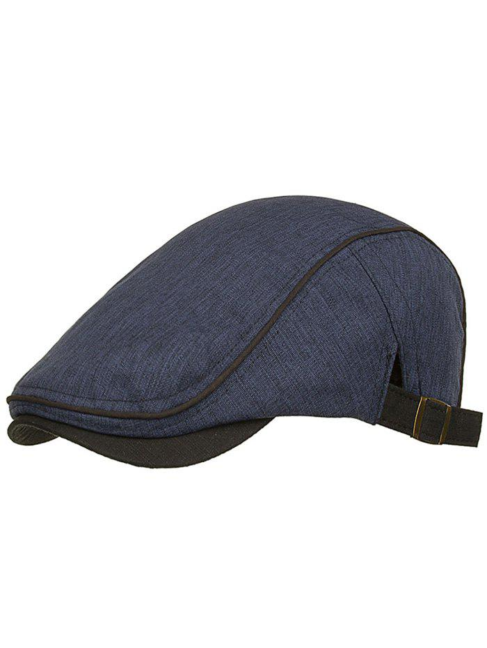 Outdoor Solid Color Adjustable Jeff Hat - DEEP BLUE