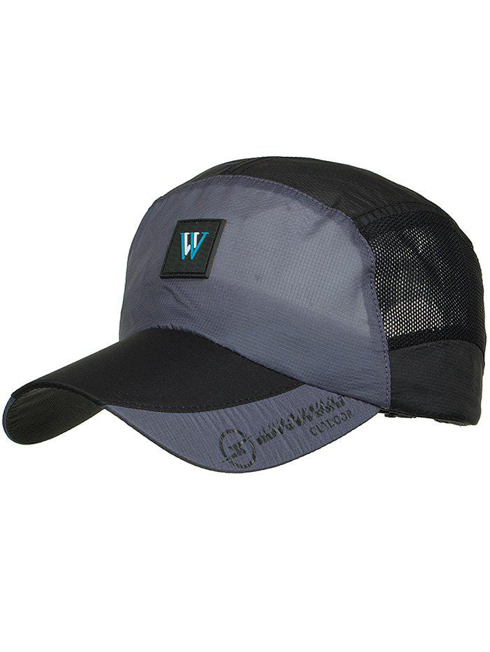 Outdoor Letter M Pattern Sunscreen Hat - BLACK
