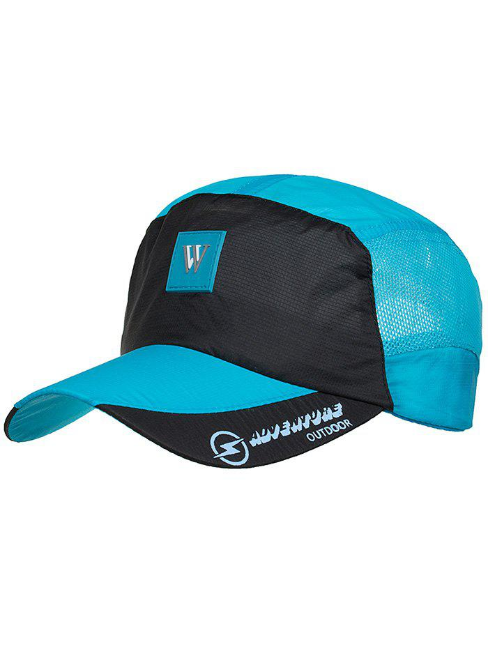 Outdoor Letter M Pattern Sunscreen Hat - BUTTERFLY BLUE