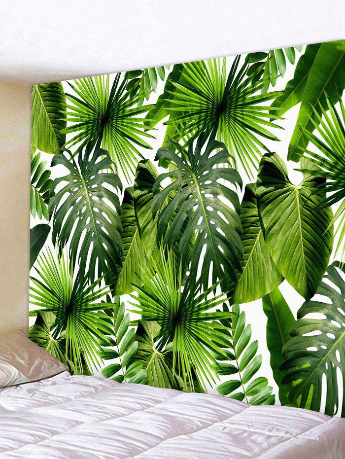Tropical Leaves Pattern Tapestry Wall Art tropical leaves wall sticker