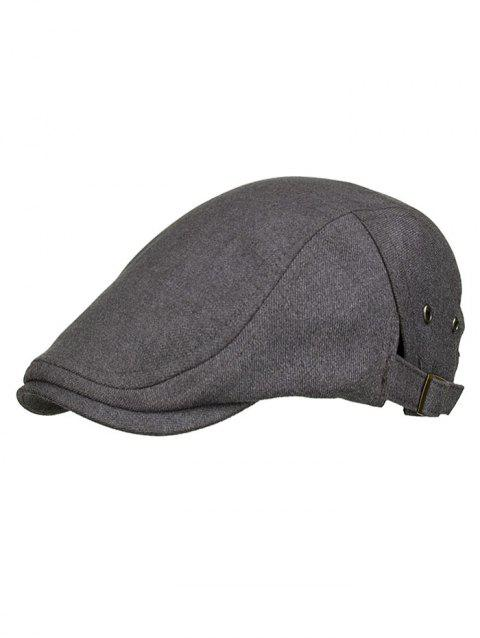 Outdoor Solid Color Breathable Newsboy Cap - CLOUDY GRAY