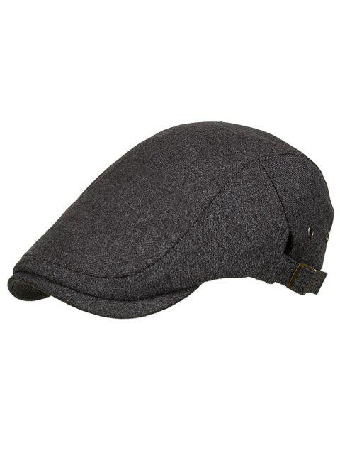 Outdoor Solid Color Breathable Newsboy Cap - GRAY WOLF