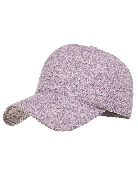 Simple Line Embroidery Magic Sticker Baseball Cap - PURPLE DRAGON
