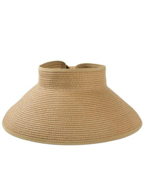 LIMITED OFFER  2019 Solid Color Hollow Out Foldable Straw Hat In ... 89ee7cce94fa