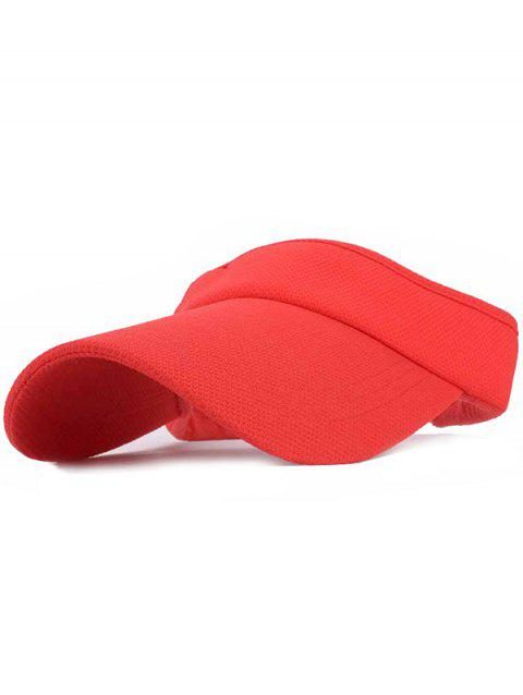 UV Proof Flexible Air Top Sunscreen Hat - RED