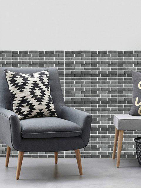 Faux Ceramic Tile Wall Art Sticker For Kitchen Gray