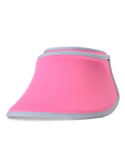 UV Protection Open Top Wide Brim Summer Hat - HOT PINK