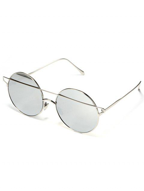 Vintage Metal Street Snap Travel Sunglasses - SILVER