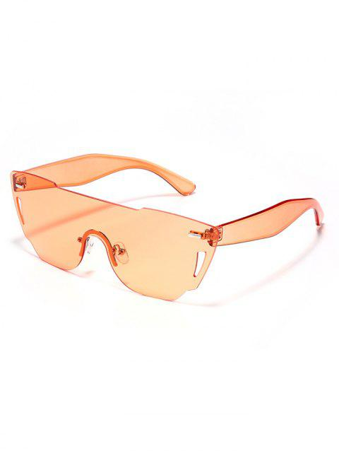 Anti UV Mirror Reflective Sheild Sunglasses - GOLD FRAME / PINK LENS