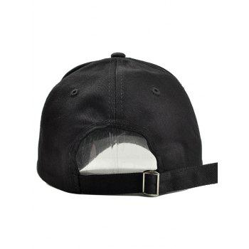 Outdoor Line Embroidery Graphic Hat - BLACK