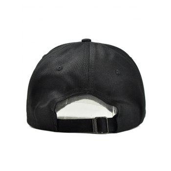 LOVE Embroidery Adjustable Graphic Hat - BLACK