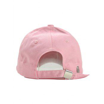 Unique Vertical Mind Embroidery Baseball Cap - PINK