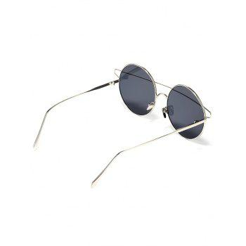 Vintage Metal Street Snap Travel Sunglasses - BLACK