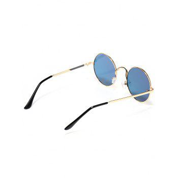 Colorful Metal Frame Mirrored Street Snap Sunglasses - BLUE