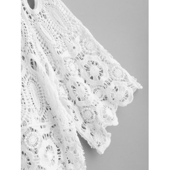 Scalloped Crochet Top - WHITE ONE SIZE