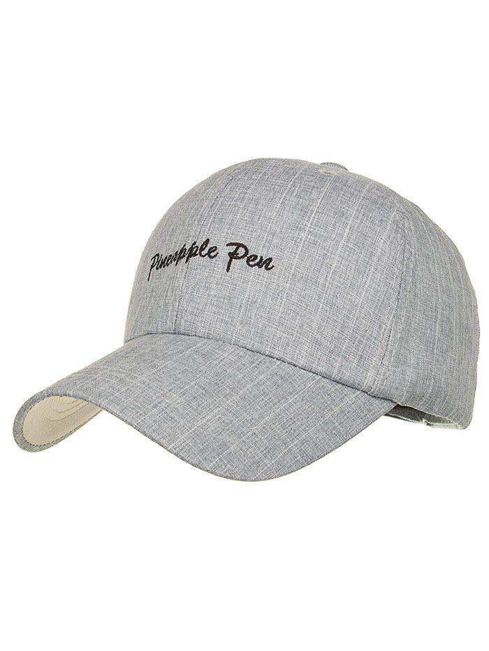Striped Pattern Pineapple Pen Graphic Hat - GRAY CLOUD