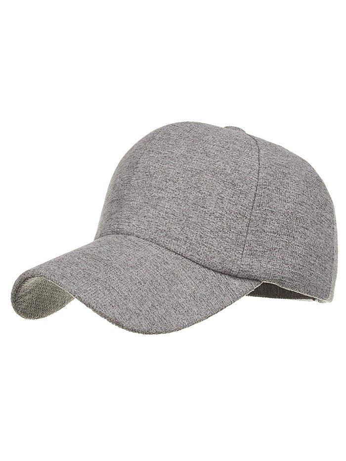 Simple Line Embroidery Magic Sticker Baseball Cap - BATTLESHIP GRAY