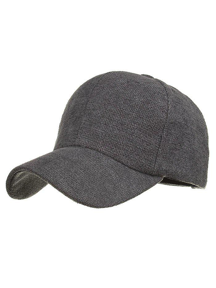 Simple Line Embroidery Magic Sticker Baseball Cap - GRAY DOLPHIN