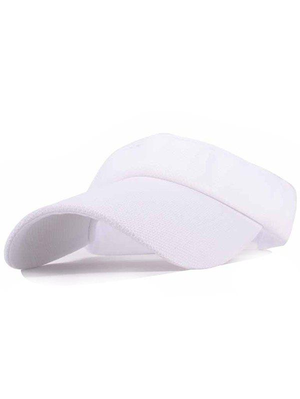 UV Proof Flexible Air Top Sunscreen Hat - WHITE