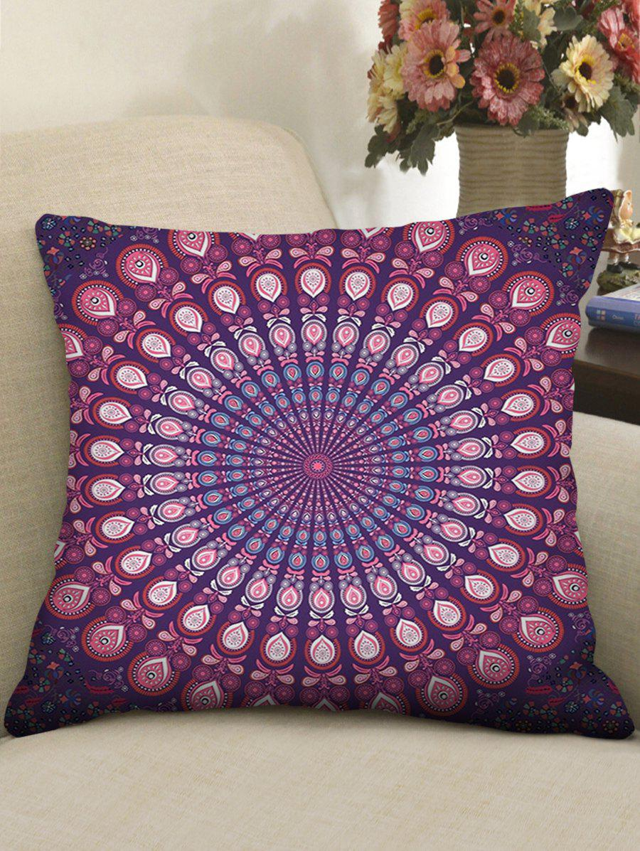Mandala Pattern Decorative Linen Pillowcase - PALE VIOLET RED W18 INCH * L18 INCH