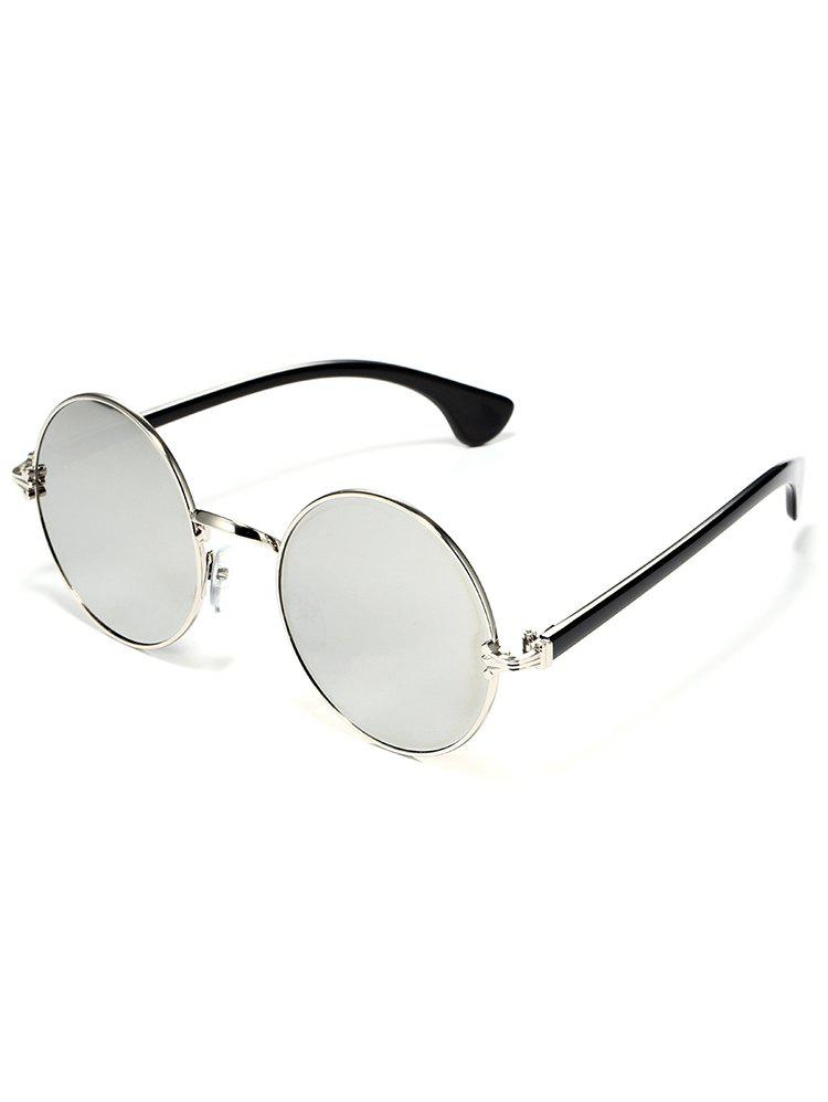 Colorful Metal Frame Mirrored Street Snap Sunglasses - GRAY