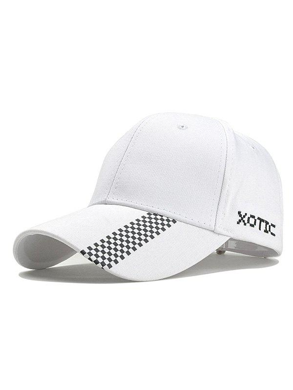 Mosaic Printed Adjustable Hip Hop Hat - WHITE