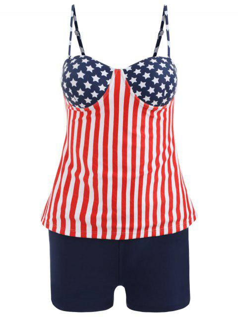 Cami Strap Stars and Stripes Tankini - COLORMIX L