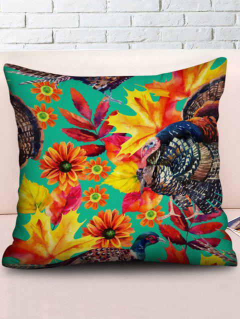 Birds Painting Pattern Sofa Pillowcase - multicolor W18 INCH * L18 INCH