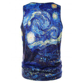 Starry Sky Print Graphic Tank Top - COLORMIX M