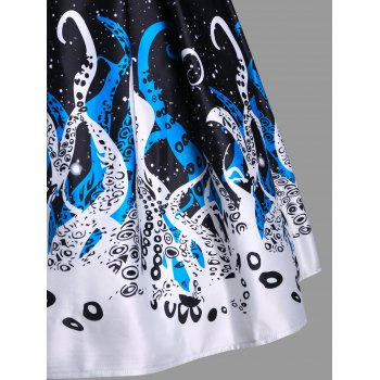 Octopus Claw A-line Skirt - WHITE S