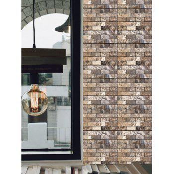 3D Stone Bricks Waterproof Art Wall Tile Stickers 10Pcs - multicolor 10 PCS 30*30CM