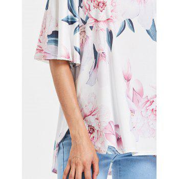 Short Sleeve Off The Shoulder Printed Top - WHITE M