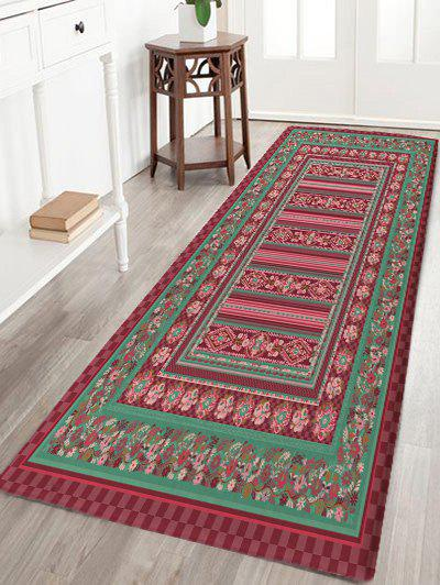 Rectangle Geometric Flowers Pattern Floor Rug - multicolor W24 INCH * L71 INCH
