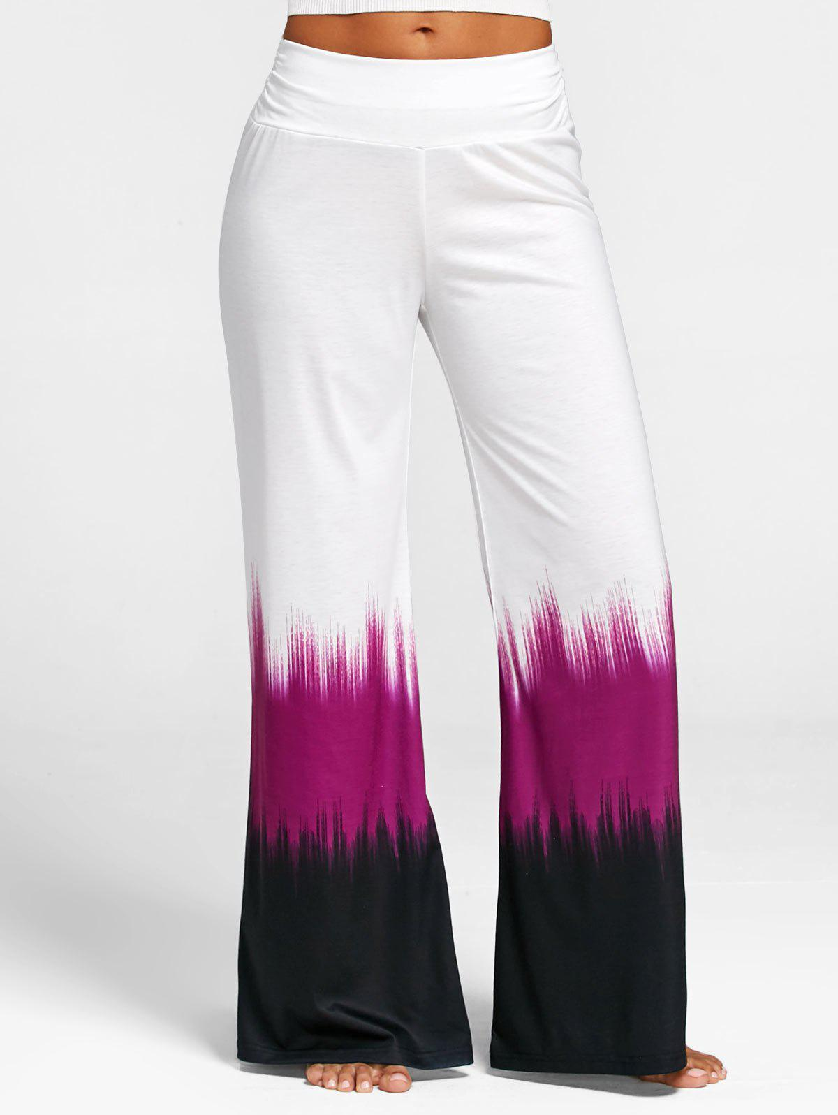 Wide Leg Tie Dye Casual Pants inc new gray white tie dye women s 16 tapered leg soft pull on pants $69 364