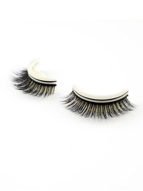 Pair of Handmade Reusable Volumizing Glue Free False Eyelashes - 001