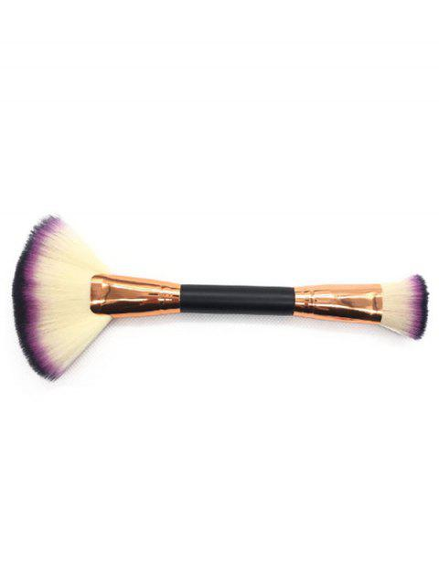 Multifunctional Two in One Double Headed Fan Shape Foundation Brush - multicolor A