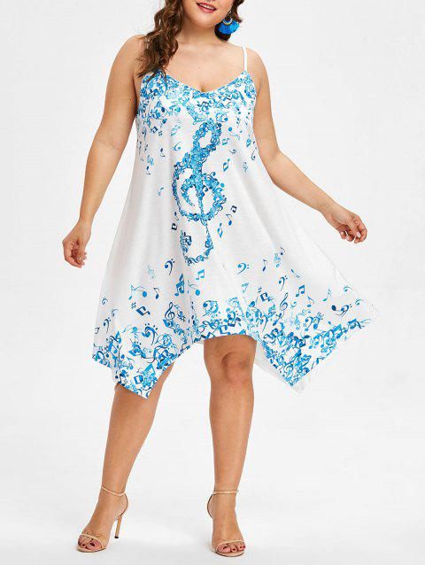Plus Size Musical Notes Cami Dress - BUTTERFLY BLUE L