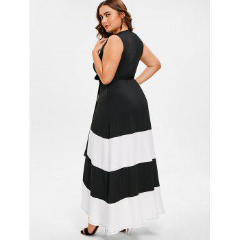 Plus Size Maxi Tulip Wrap Dress - BLACK 3X
