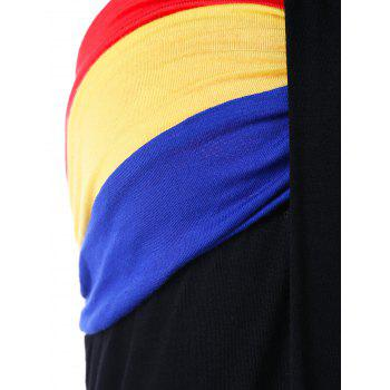 Halter Color Block Tank Top - COLORMIX M
