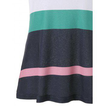 H Back Striped Tank Top - COLORMIX 2XL