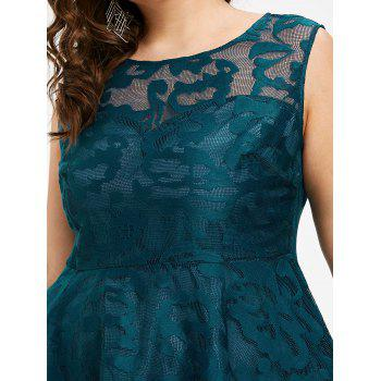 Plus Size Sleeveless Lace Party Dress - GLACIAL BLUE ICE 3X