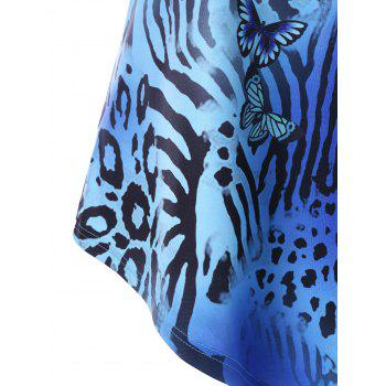 Cheetahs Print Tunic T-shirt - COLORMIX 2XL