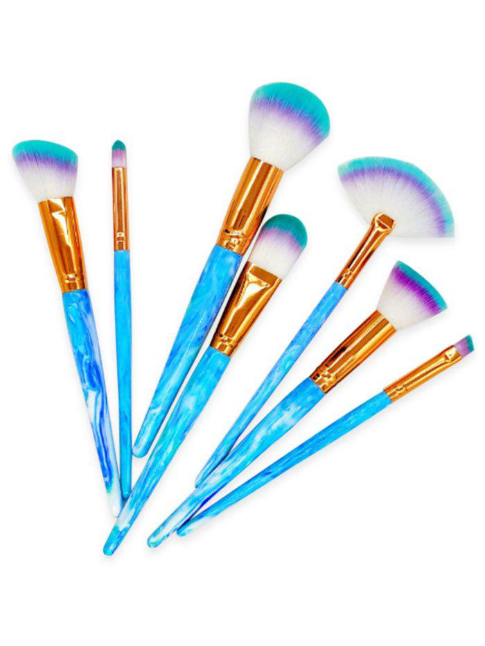 7Pcs Extra Soft Synthetic Fiber Hair Foundation Blush Brush Set vanderlife pro 7pcs synthetic hair make up brushes set foundation face