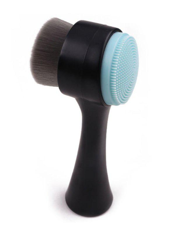 Bamboo Charcoal Double Sided Facial Deep Cleansing Brush - LIGHT SKY BLUE